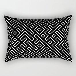 straight labyrinth Rectangular Pillow