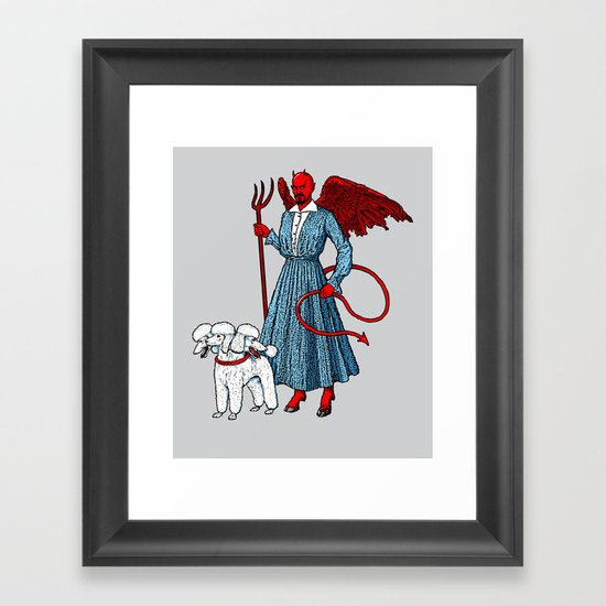 Devil With A Blue Dress On Framed Art Print
