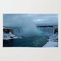 tattoos Area & Throw Rugs featuring Niagara Falls by Aaron Carberry