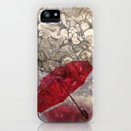 """Parapluie Perdu"" (The Lost Umbrella) by Laurie Ann Hunter iPhone Case"