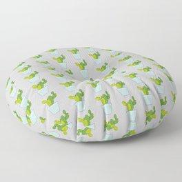 Blooming Cactus | Light Gray Floor Pillow