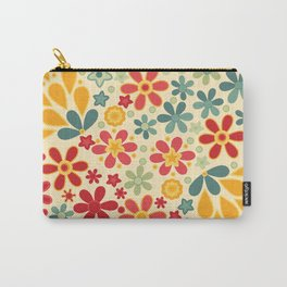 Retro.  Floral motifs Carry-All Pouch