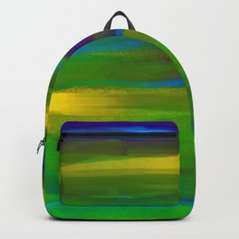 Green Mardi Gras Abstract Backpack