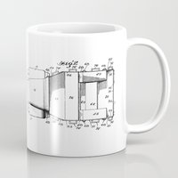 jeep Mugs featuring Jeep: Byron Q. Jones Original Jeep Patent by Elegant Chaos Gallery