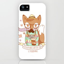 Fashionable Hipster Fox iPhone Case