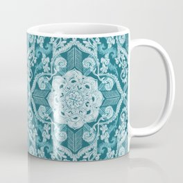 Centered Lace - Teal  Coffee Mug