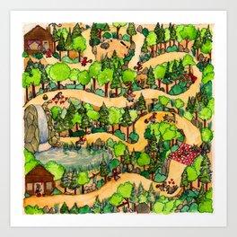 Red Riding Hood's path//El Caminito de Caperucita Roja Art Print