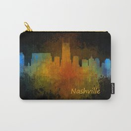 Nashville city skyline Tennessee watercolor v4 Dak Carry-All Pouch