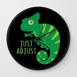 Just Adjust - Chameleon Lover Gift Wall Clock