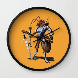 Soldiering On (colour) Wall Clock