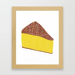 Yellow Cheesecake Framed Art Print