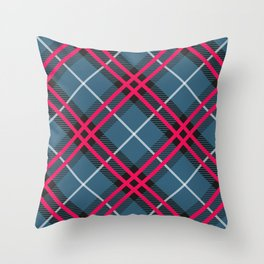 the thin red lines. Throw Pillow