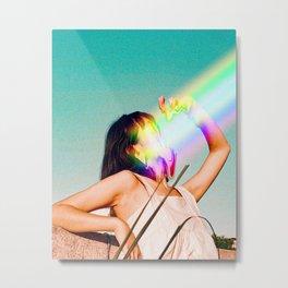 Not all Rainbows are good, Vintage, Summer, Sea, Beach, Sunrise Metal Print