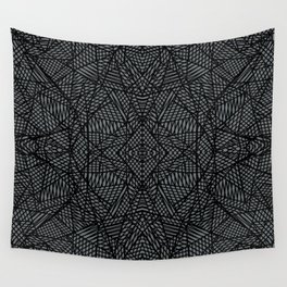 Ab Lace Black and Grey Wall Tapestry