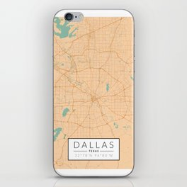 Dallas Map - Color iPhone Skin