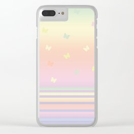 Pattern butterfly 184 Clear iPhone Case
