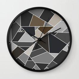 stone mosaic - stone texture Wall Clock