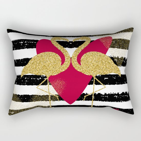 Love Flamingos Rectangular Pillow