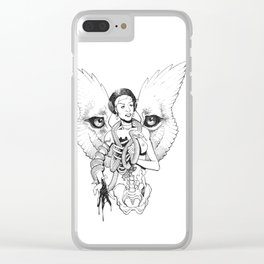 Winged Lioness Clear iPhone Case