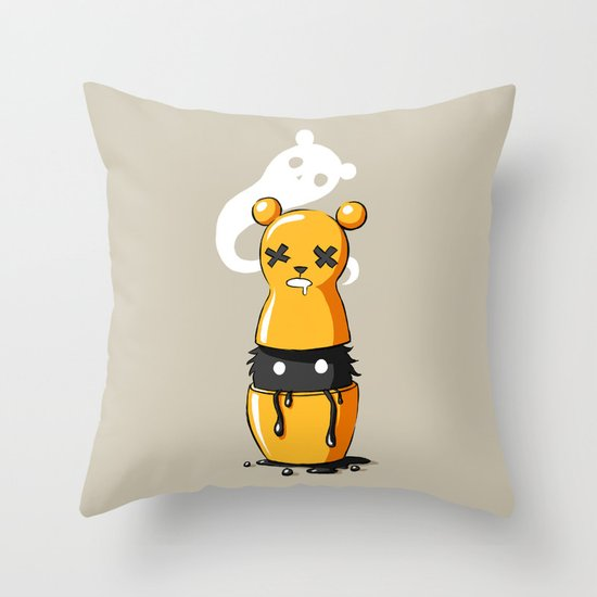 Matryoshka Monster Throw Pillow