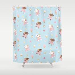 Sugar Plum Fairies Pattern Shower Curtain