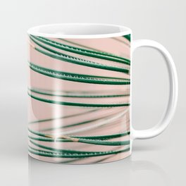 Green on Coral | Botanical modern photography print | Tropical vibe art Coffee Mug