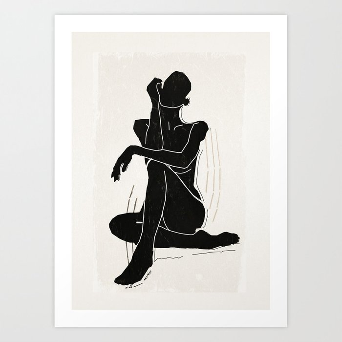 Nude woman 3 Art Print