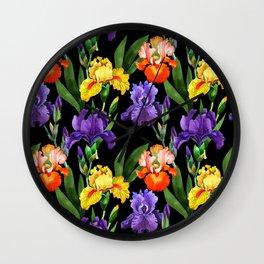 Iris Pattern 13 Wall Clock