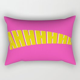 ahhh double layer white pink Rectangular Pillow