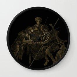 """Esau Sells His Birthright for Pottage of Lentils"". #bible #esau #birthright #jacob #art #digitalart Wall Clock"