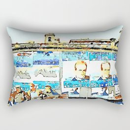 Bracciano: three men on the bench Rectangular Pillow