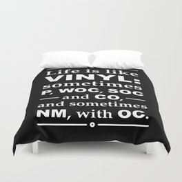 Life Is Like Vinyl -Record Collector Duvet Cover