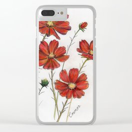 Red Cosmos Clear iPhone Case