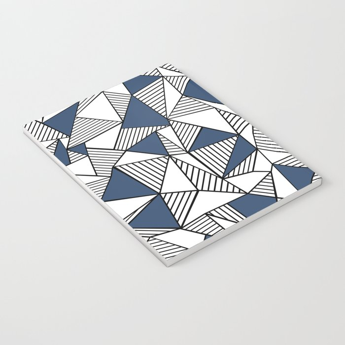 Abstraction Lines with Navy Blocks Notebook