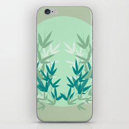 Frozen leaves on the cold winter's day iPhone Skin
