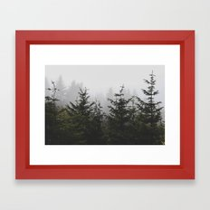Trees + Fog Framed Art Print
