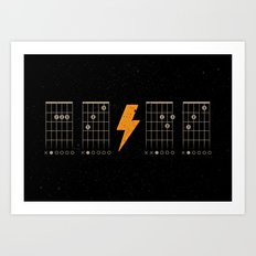 ACDC Back in Black Art Print