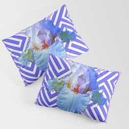 DECO LILAC PURPLE PASTEL IRIS PATTERN Pillow Sham