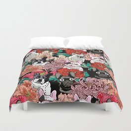 Because French Bulldogs Duvet Cover