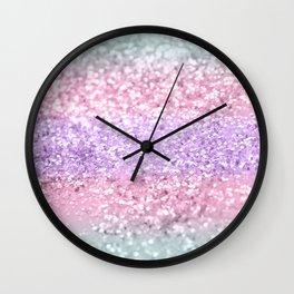Unicorn Girls Glitter #8 #shiny #pastel #decor #art #society6 Wall Clock