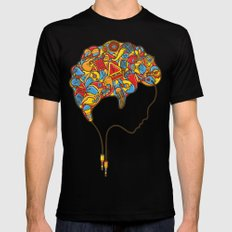 Musical Mind Black MEDIUM Mens Fitted Tee