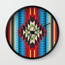 Navajo Pattern Five Wall Clock