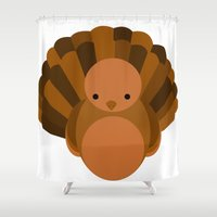 turkey Shower Curtains featuring Turkey by StephyLe