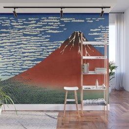 South Wind, Clear Sky (Gaifū kaisei or 凱風快晴) Wall Mural