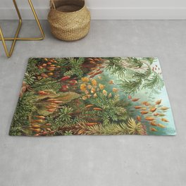 Vintage Plants Decorative Nature Rug