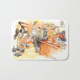 Birds's bar Bath Mat