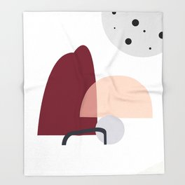 Organic Modern Dots Design Print Throw Blanket