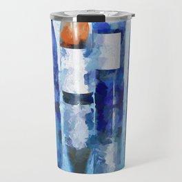 Wine Bottles Reflection Travel Mug