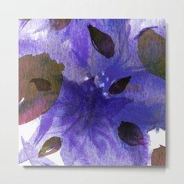 Watercolor Purple Mirage Metal Print