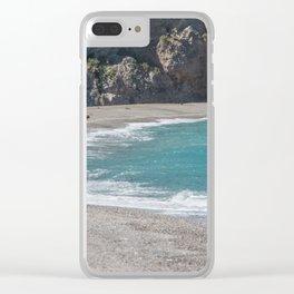 Empty beach Clear iPhone Case